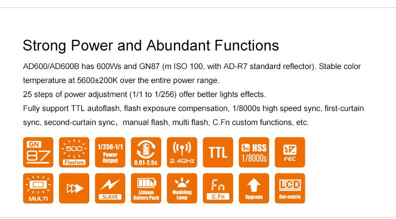 فلاش پرتابل Godox مدل AD600B TTL